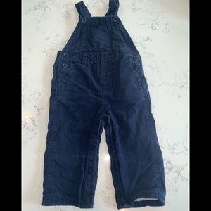 Navy cotton overalls